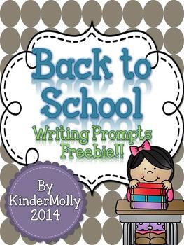 Back To School Writing Prompts Freebie!