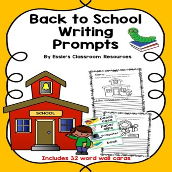 Back To School Writing Prompts (K-2)
