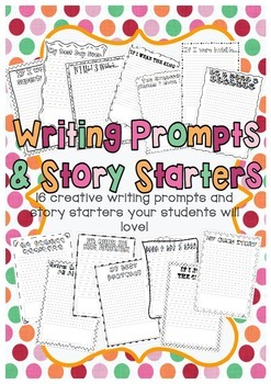 Writing Prompts and Story Starters!
