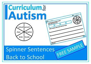Back To School Writing Sentences, Autism, Special Education, FREEBIE