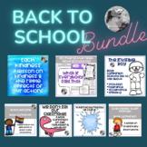 Back To School  Book Activity Bundle