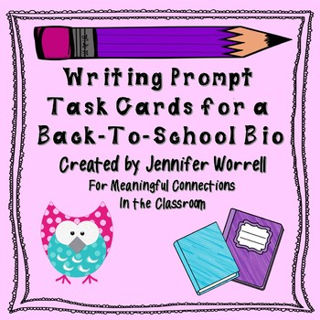 Back-To-School and End-of-Year All About Me Book Project and Writing Prompts