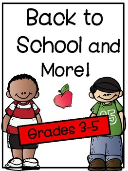 Back To School and More! First Week is Covered!
