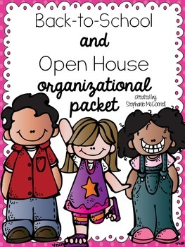 Back To School and Open House Organizational Packet