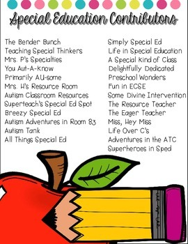 Back To School e-book {tips & freebies from 25 sped teachers}
