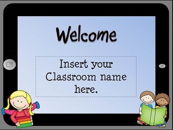 Open House iPad Themed Powerpoint Template