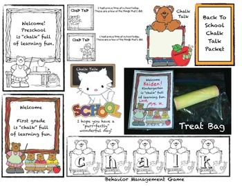 Back To School or Anytime Chalk Talk Packet