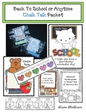Free Back To School or Anytime Chalk Talk Packet