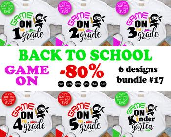 Back To School svg BUNDLE svg Game on 1st grade svg Kindergarten Svg