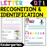 Letter Recognition Worksheets  -  RTI for Kindergarten - I