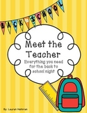 Back To School/Meet The Teacher Night Forms, Treat Tags &