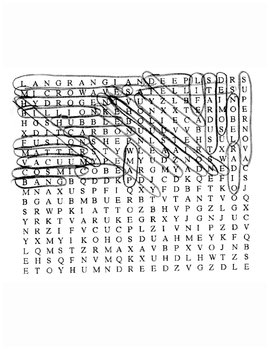Back to the Beginning Wordsearch with Key
