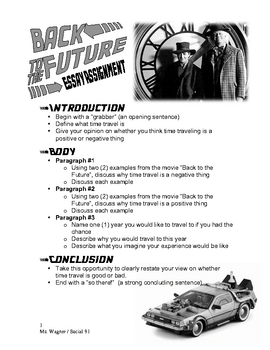 Back To The Future Movie Student Essay Assignment - Time