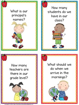 Back To the Books: Classroom Procedures Task Cards