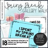 Back from Spring Break Gallery Walk