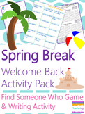 No Prep ELA Lesson for the day after Spring Break {Welcome Back from Break}