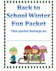 Back from Winter Break Fun Packet
