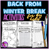 New Years Back from Winter Break Activities for Teens