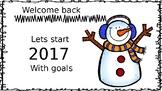 Back from Winter Break. Setting goals