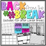 Back from the Break Activities: Activities for After Winter Break