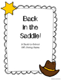 Back in the Saddle! A Back-to-School Gift Passing Game