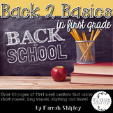 Back to School Stations/Centers--Back to Basics