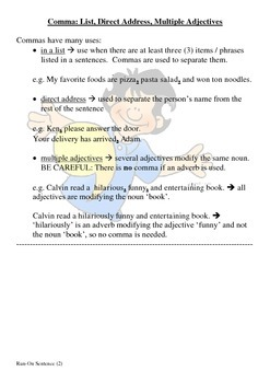 Back to Basics (2) - Comma Usage with Answers