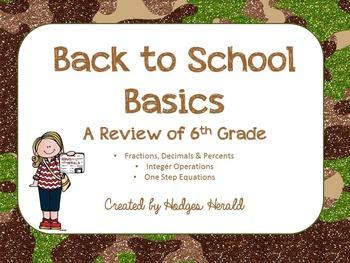 Back to Basics 7th Grade