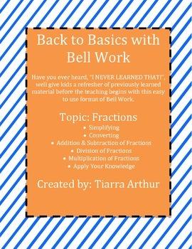 Back to Basics: Bell Work for Fractions