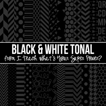 Back to Basics Black and White Digital Paper Pack