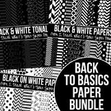 Back to Basics Black and White Digital Paper Pack