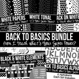Digital Paper Frames and More Back to Basics Black and White Bundle