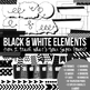Digital Paper Frames and More Back to Basics Black and White Bundle