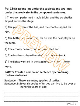 Back to Basics: Compound Sentences and Combining Sentences w PowerPoint