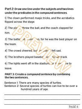 Compound Sentences and Combining Sentences w PowerPoint