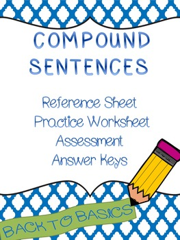 Compound Sentences and Combining Sentences Practice and Test