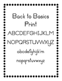 Back to Basics Font in Print