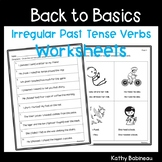 Irregular Past Tense Verbs Worksheets Independent Work Packet