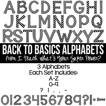 Back to Basics Set of 3 Alphas