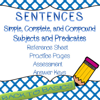 Back to Basics: Simple Sentence with Simple and Compound S