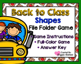 Back to Class Shapes File Folder Game