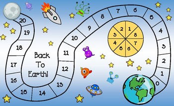 Back to Earth! Math Game (Subtraction without Regrouping)