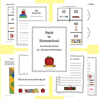 Back to Homeschool or Back to School Activity Pack - Classroom Organization