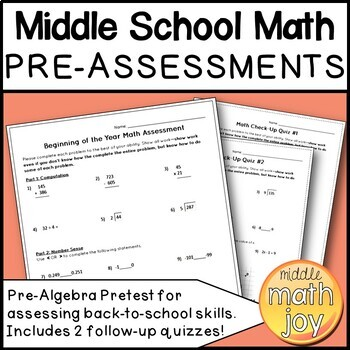 Back to Middle School Math BUNDLE
