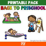 Back to Preschool Printable Pack: I Spy, Puzzles, Coloring