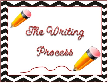 Back to School: Writing Process + Clipcharts Chevron patte