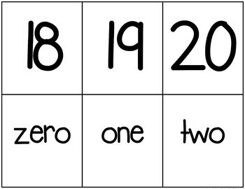 Back to School 0-20 Counting Games