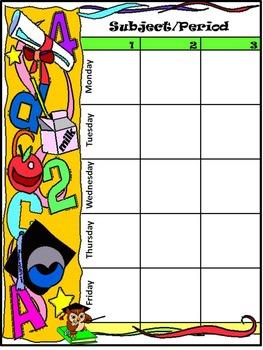 Owl Theme Teacher Binder, Lesson Planner, Grade Book & Classroom Kit - Color