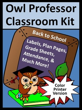 Back to School Lesson Planner and Classroom Kit