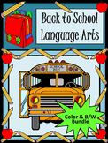 Back to School Language Arts Activity Packet Bundle